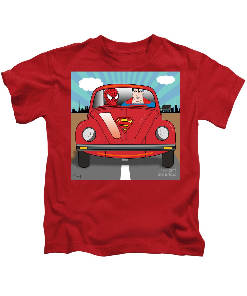 Pop Culture Kids T-Shirt featuring the photograph Running Away by Mark Ashkenazi