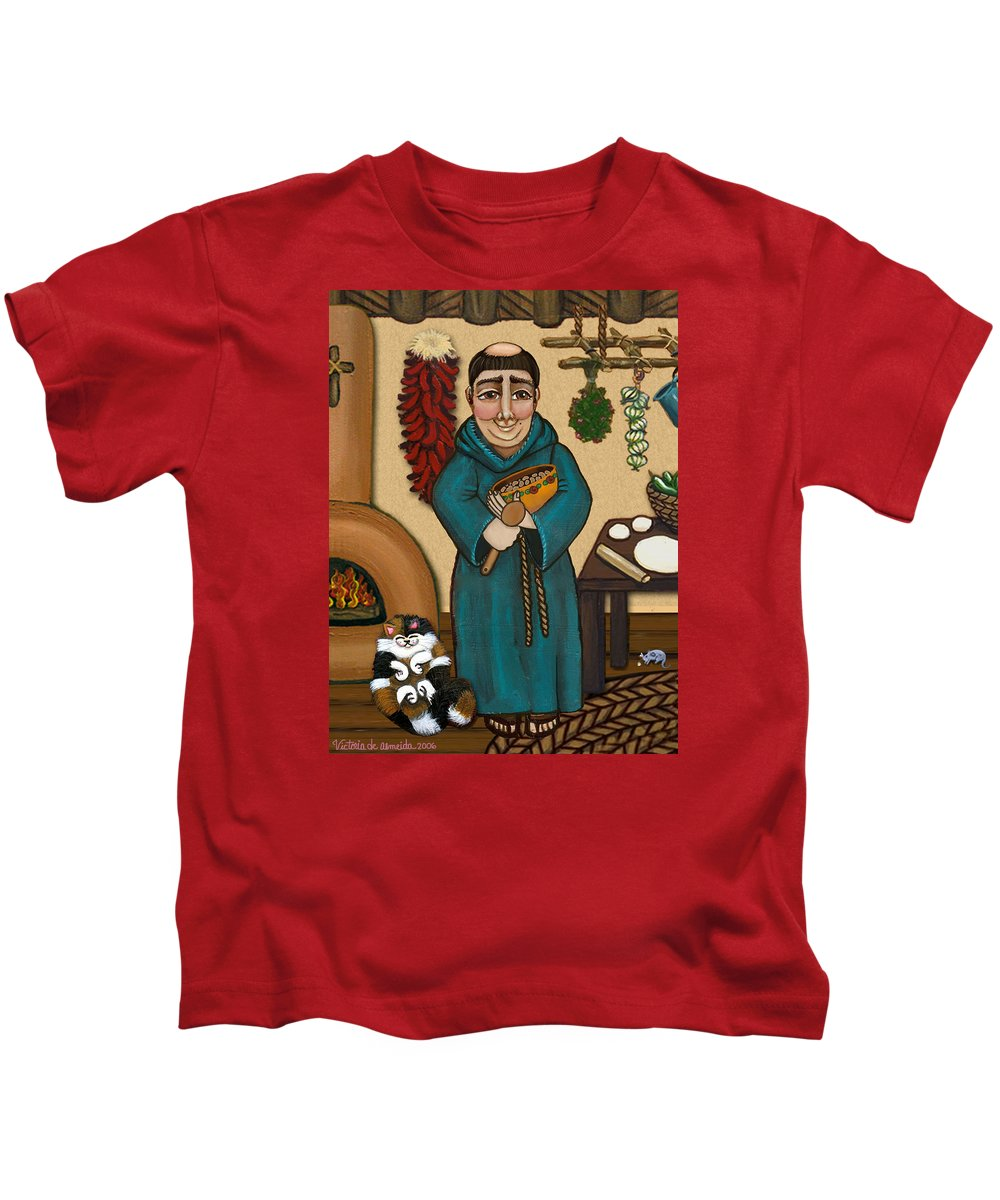 San Pascual Kids T-Shirt featuring the painting San Pascual by Victoria De Almeida