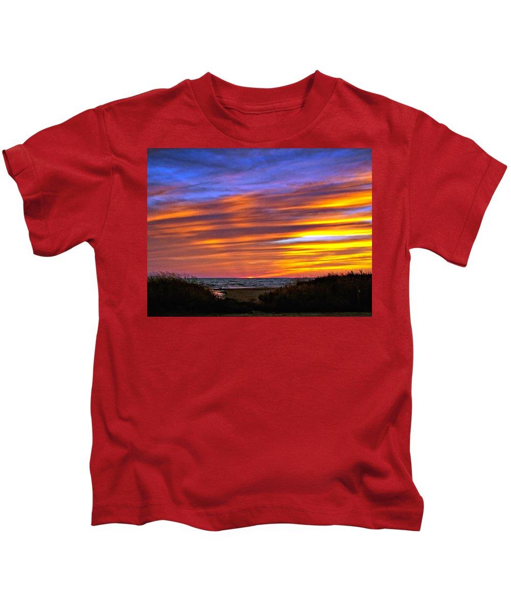 Sunset Kids T-Shirt featuring the photograph Sauble Sunset by Steve Harrington