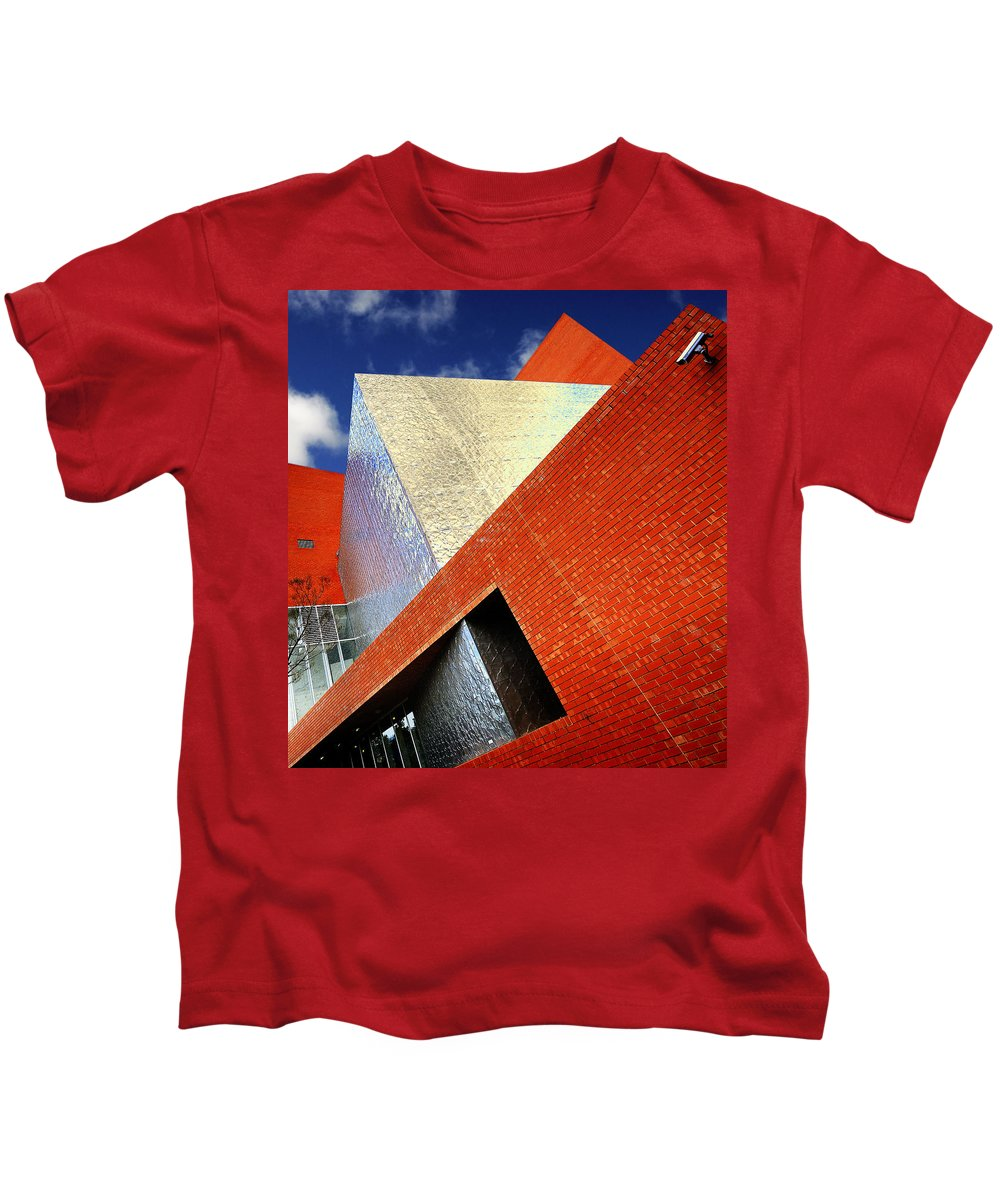 Architecture Kids T-Shirt featuring the photograph Sharps by Wayne Sherriff