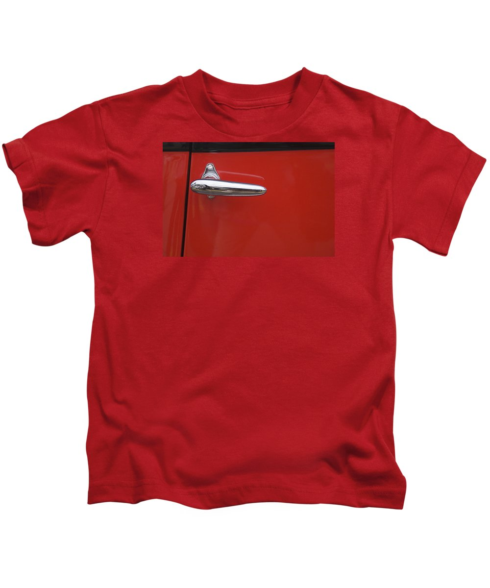 Red Kids T-Shirt featuring the photograph Skc 4032 The Red Door by Sunil Kapadia