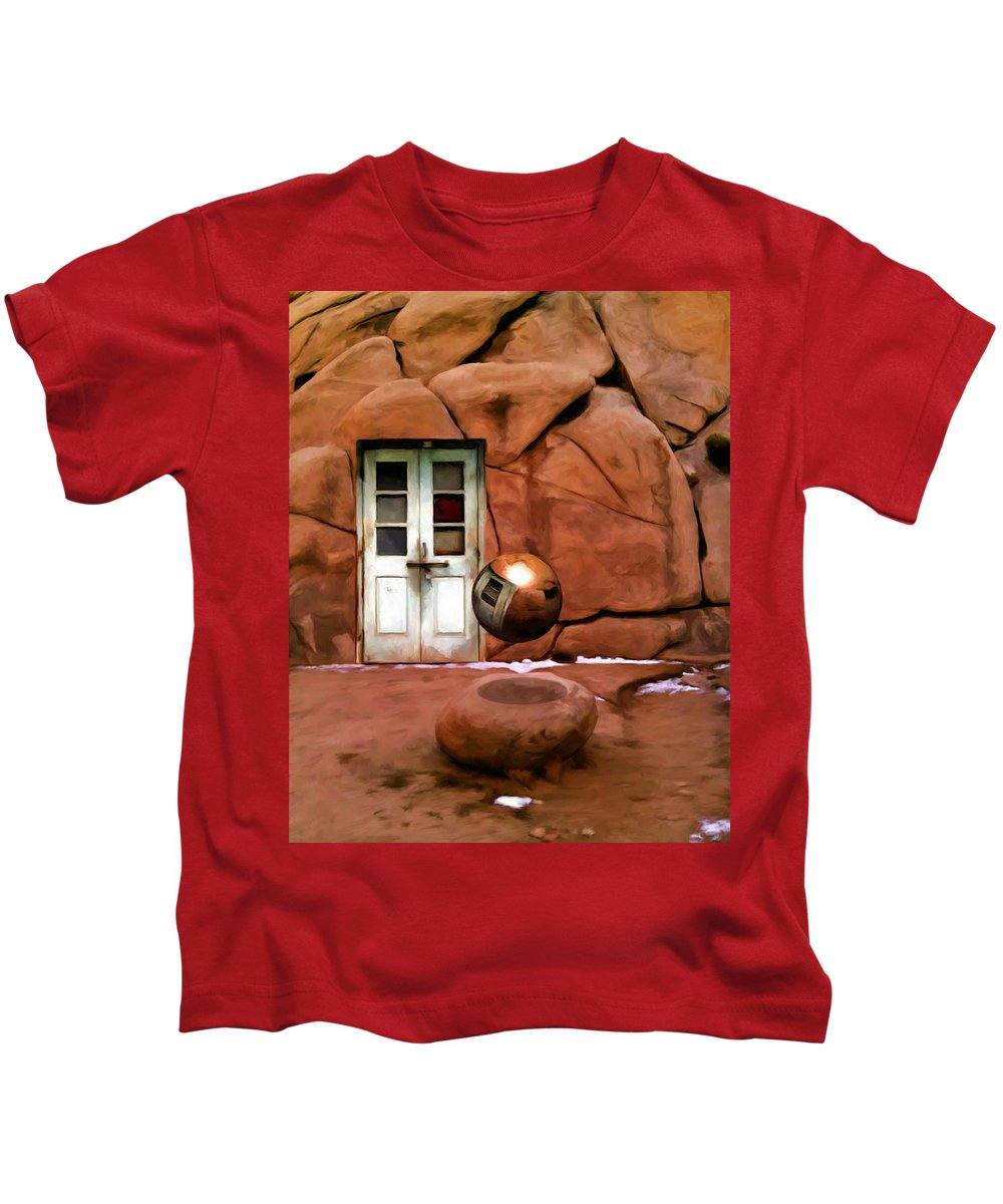 Joshua Tree Kids T-Shirt featuring the painting Snow In Joshua Tree by Snake Jagger
