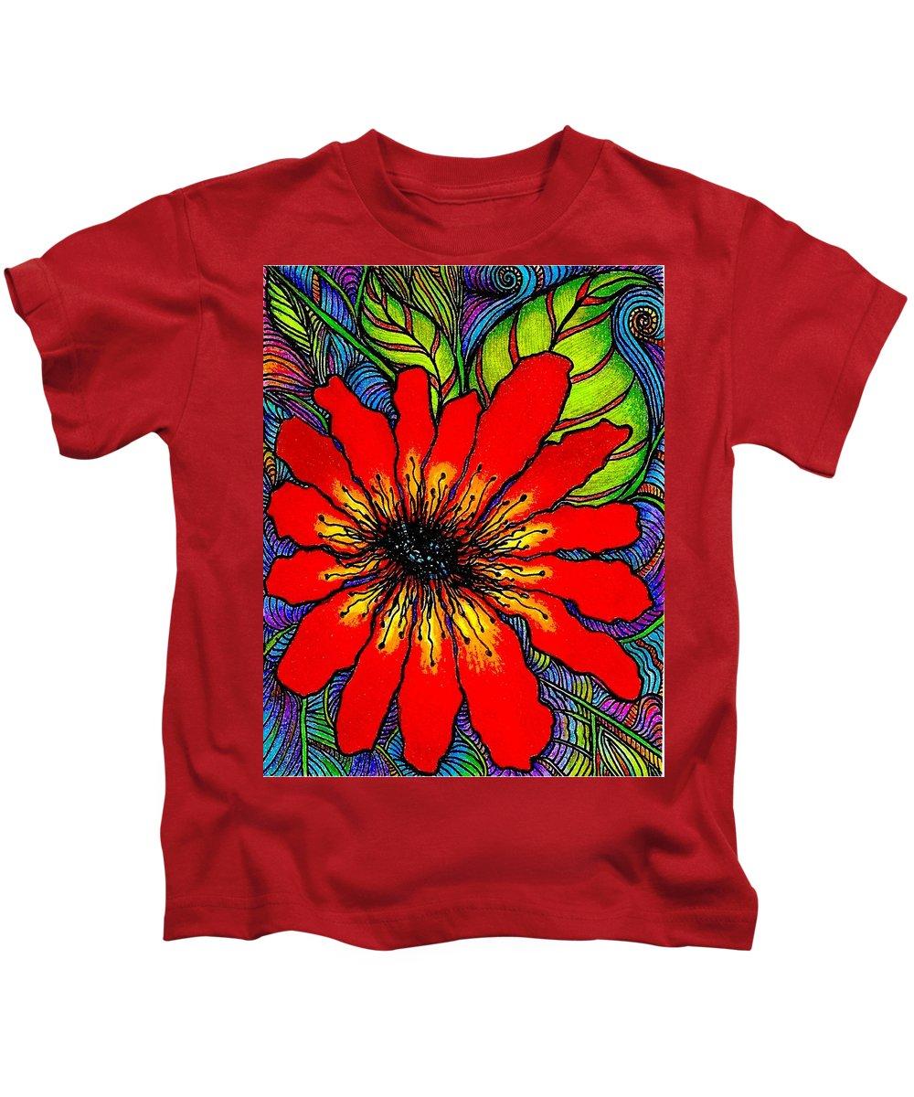 Floral Kids T-Shirt featuring the digital art Starchild by Mary Eichert