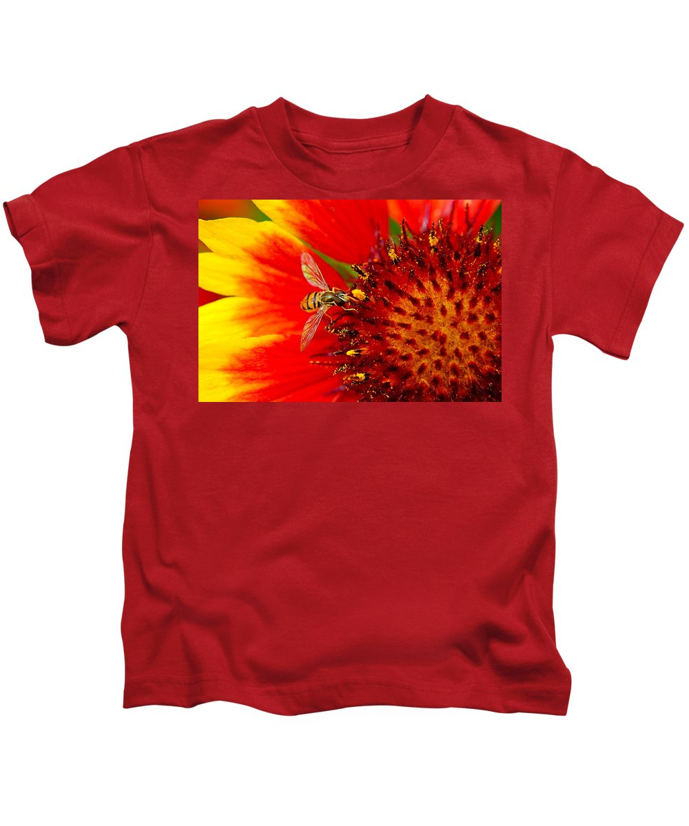Buzz Kids T-Shirt featuring the photograph Summer Day by Frozen in Time Fine Art Photography
