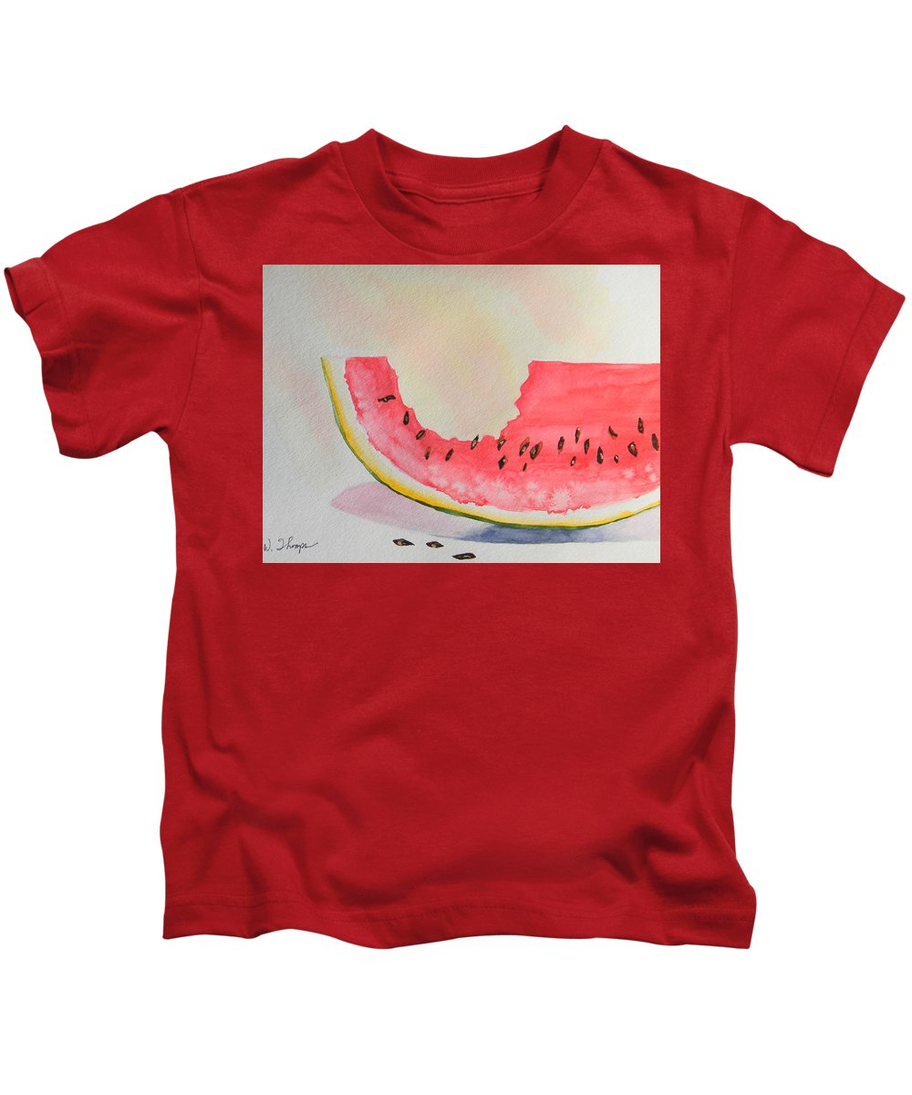 Summer Joy Kids T-Shirt featuring the painting Summer Joy by Warren Thompson