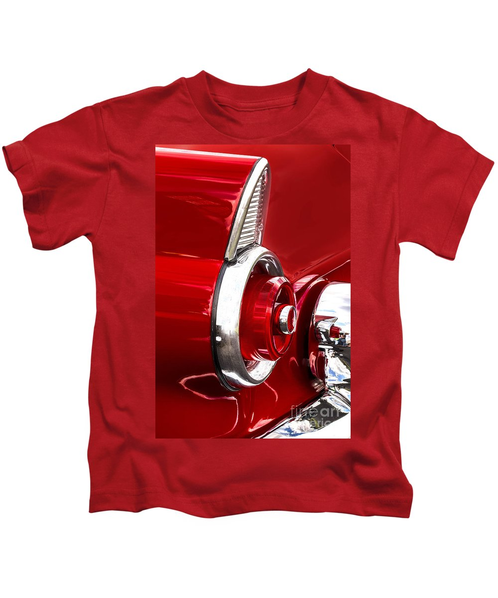 57 Kids T-Shirt featuring the photograph T-bird Tail Light by Jerry Fornarotto