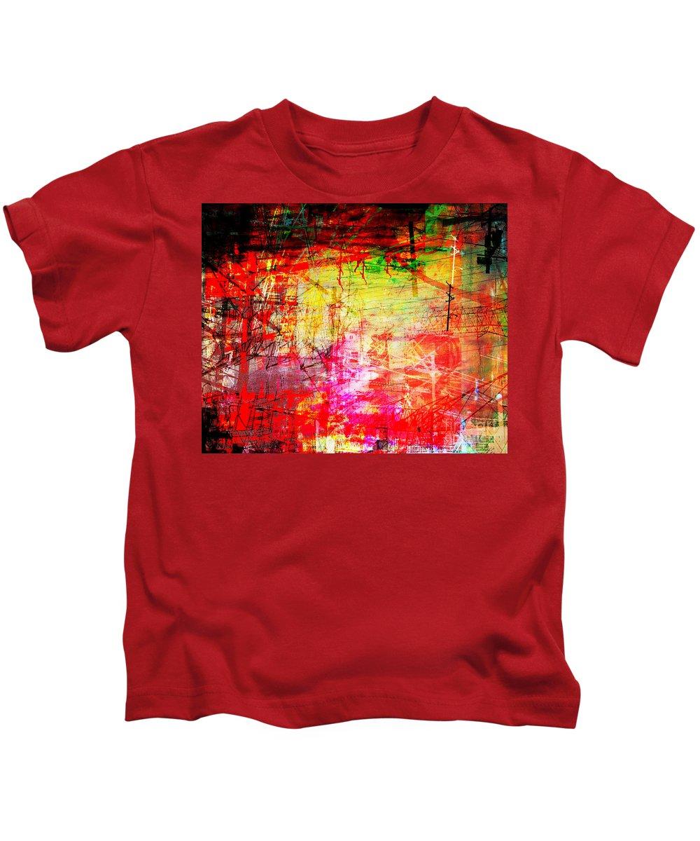 Brandon Lynch Kids T-Shirt featuring the digital art The City 11a by Brandon Lynch