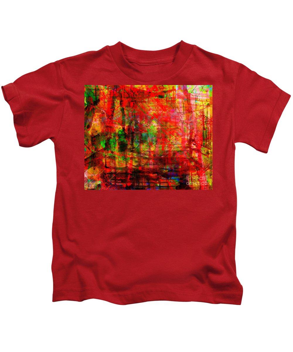 Brandon Lynch Kids T-Shirt featuring the digital art The City 17 by Brandon Lynch