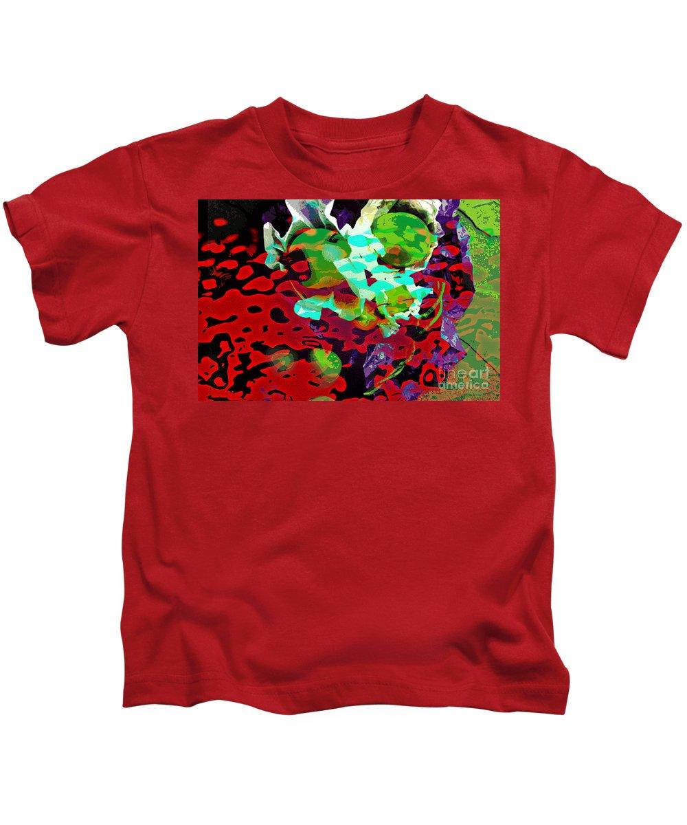 Digital Art Fruit Kids T-Shirt featuring the digital art The Forbidden Fruit by Yael VanGruber