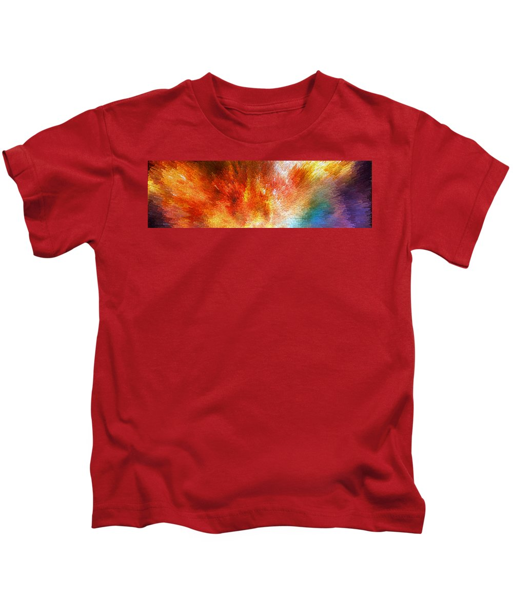 Sharon Cummings Kids T-Shirt featuring the painting The Journey - Abstract Art By Sharon Cummings by Sharon Cummings