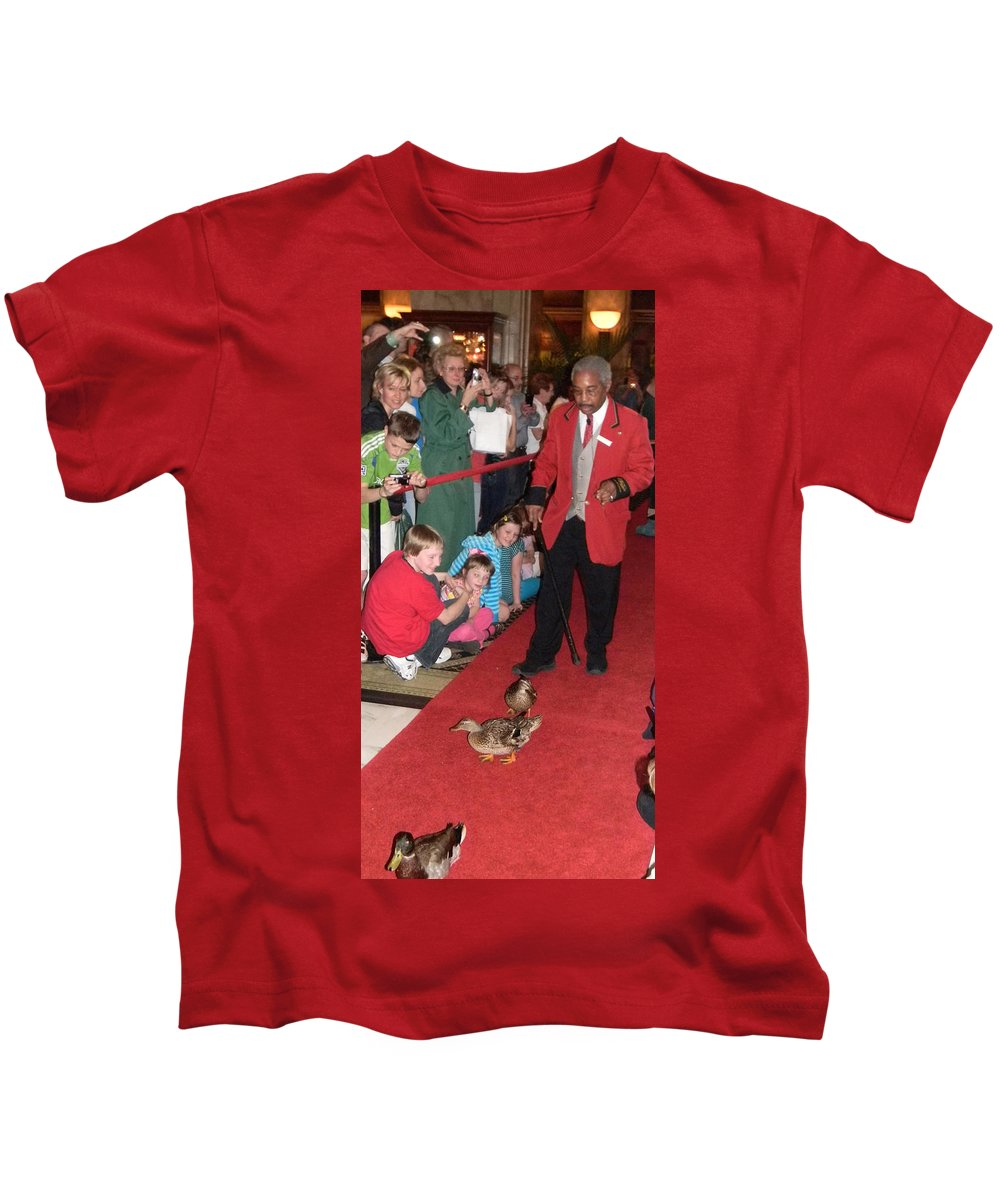The Peabody Hotel Kids T-Shirt featuring the photograph The Peabody Hotel by Laurie Paci