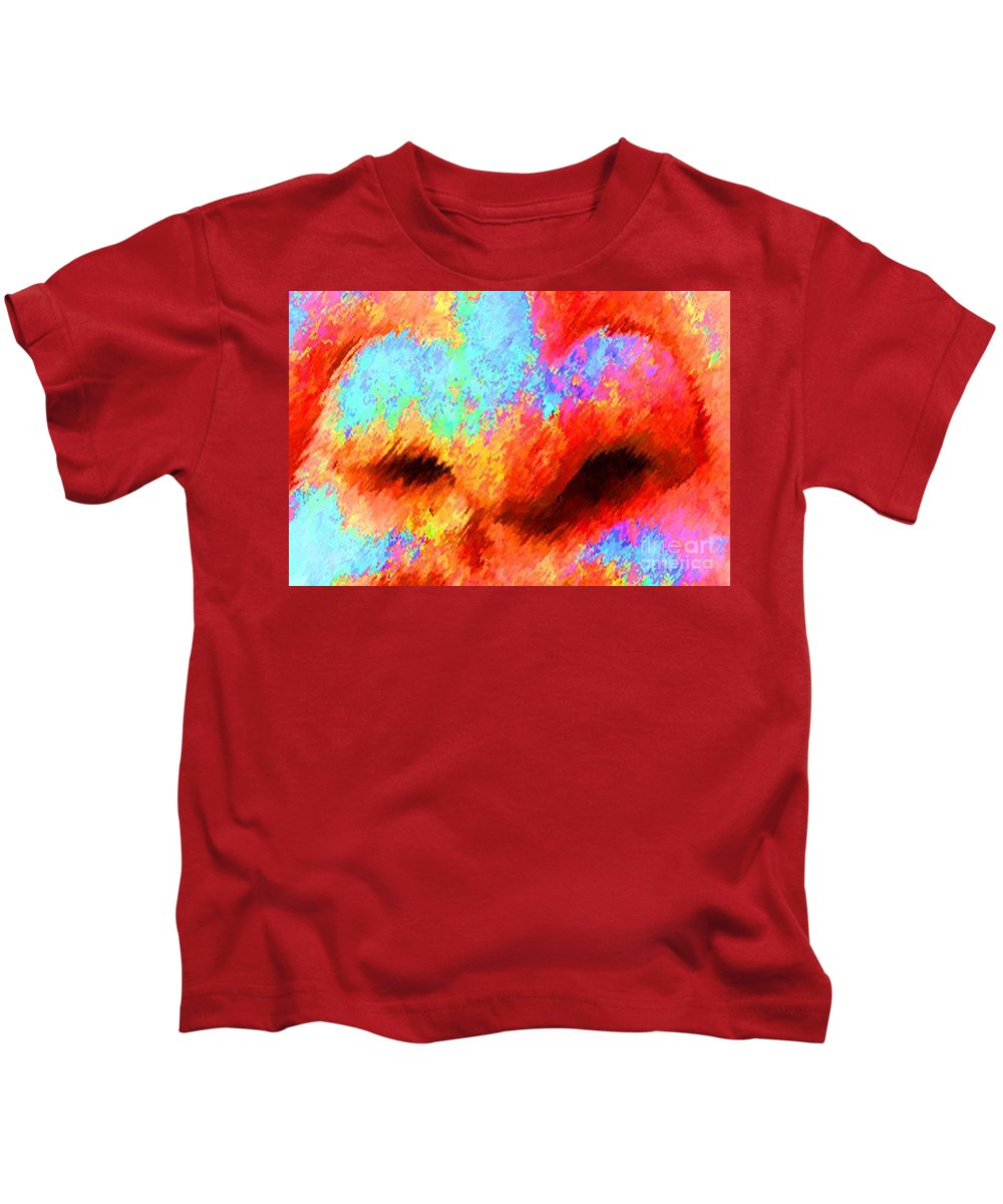 Nose Kids T-Shirt featuring the painting The Smell Of Color by Jost Houk