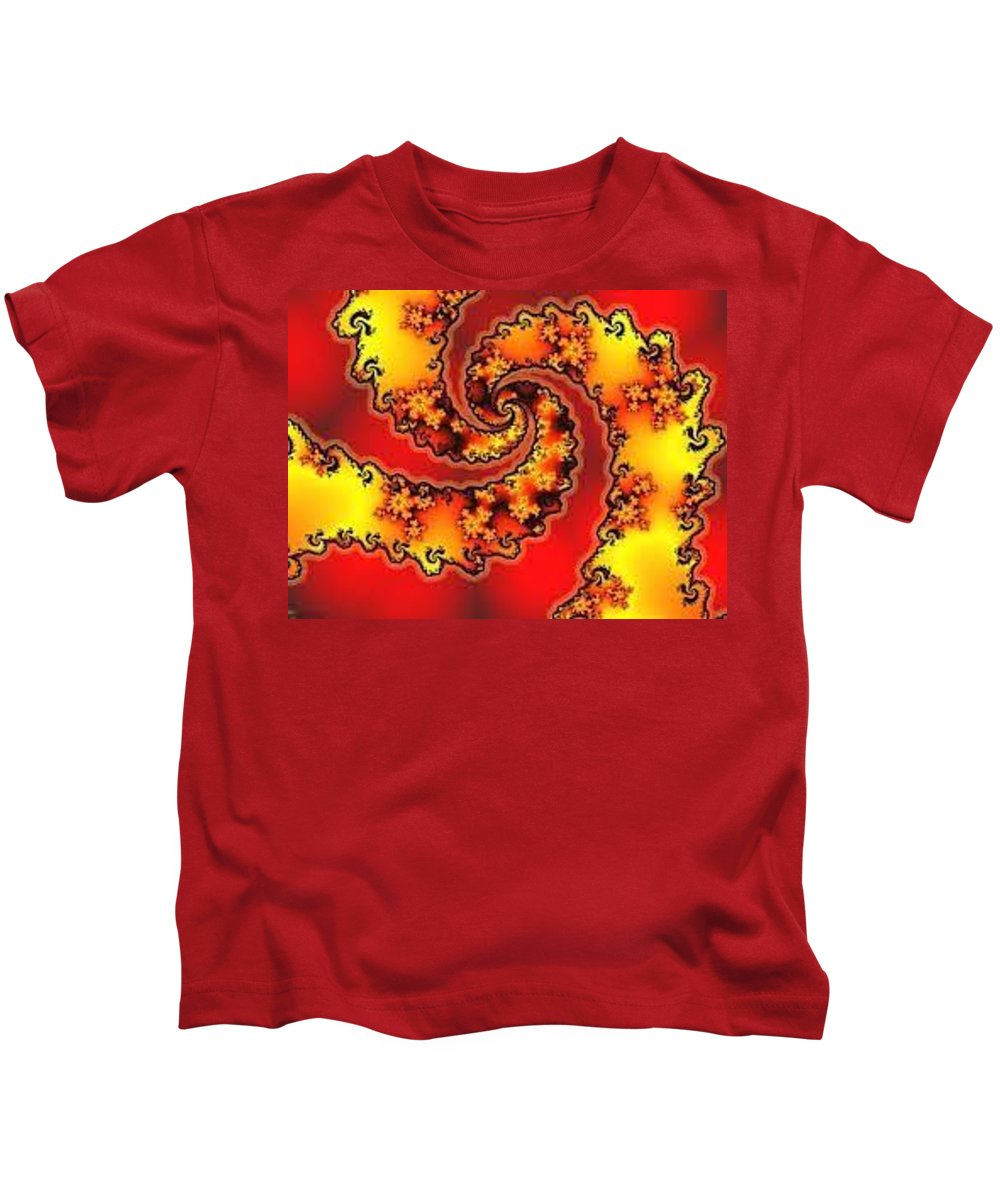 Fractal Kids T-Shirt featuring the painting Time Traveler by Bruce Nutting