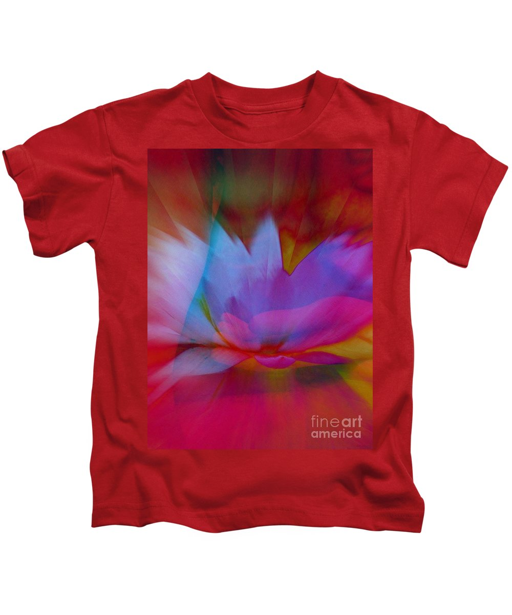 Trancendent Lotus Kids T-Shirt featuring the digital art Trancendent Lotus by Elizabeth McTaggart