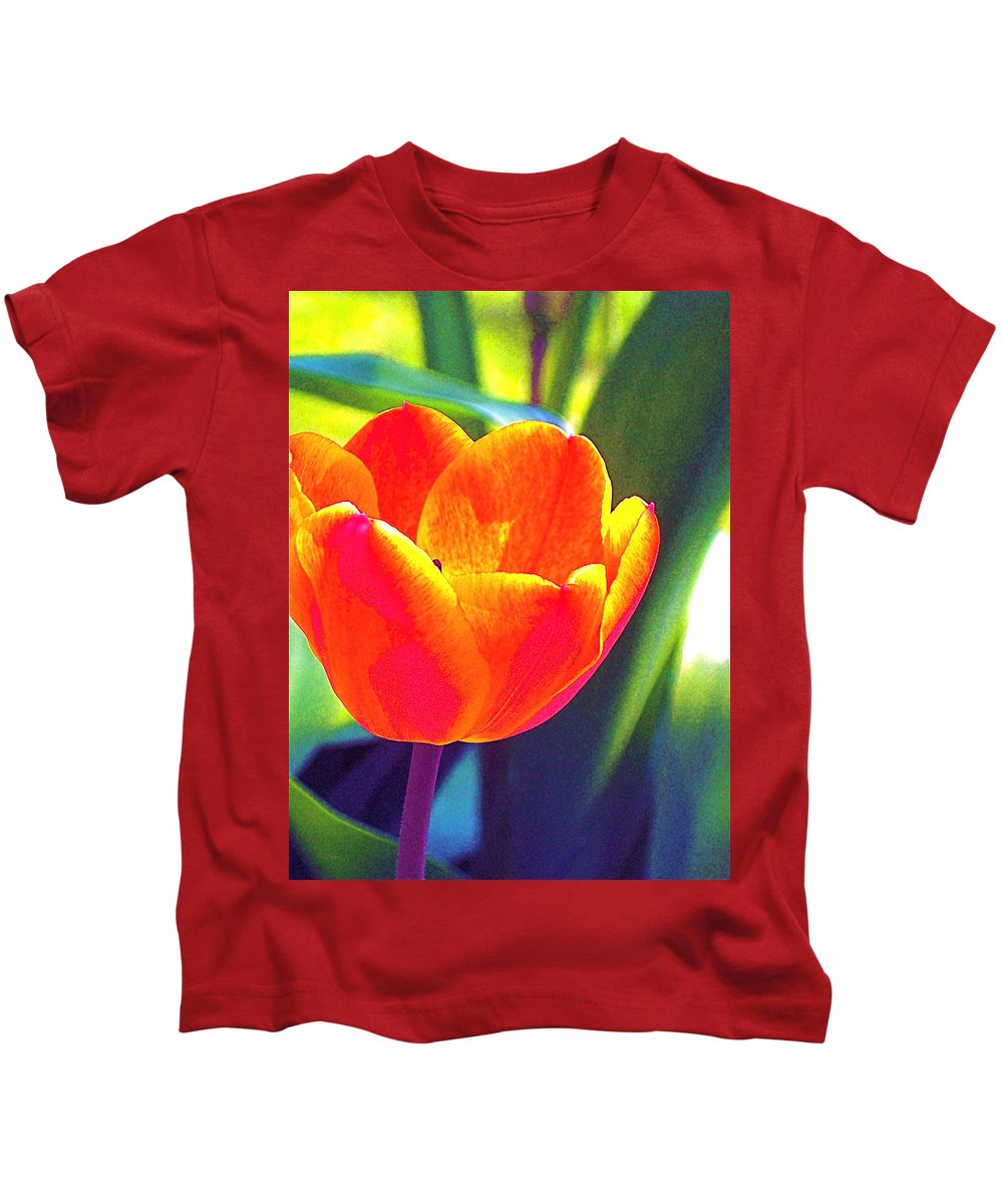 Tulip Kids T-Shirt featuring the photograph Tulip 2 by Pamela Cooper