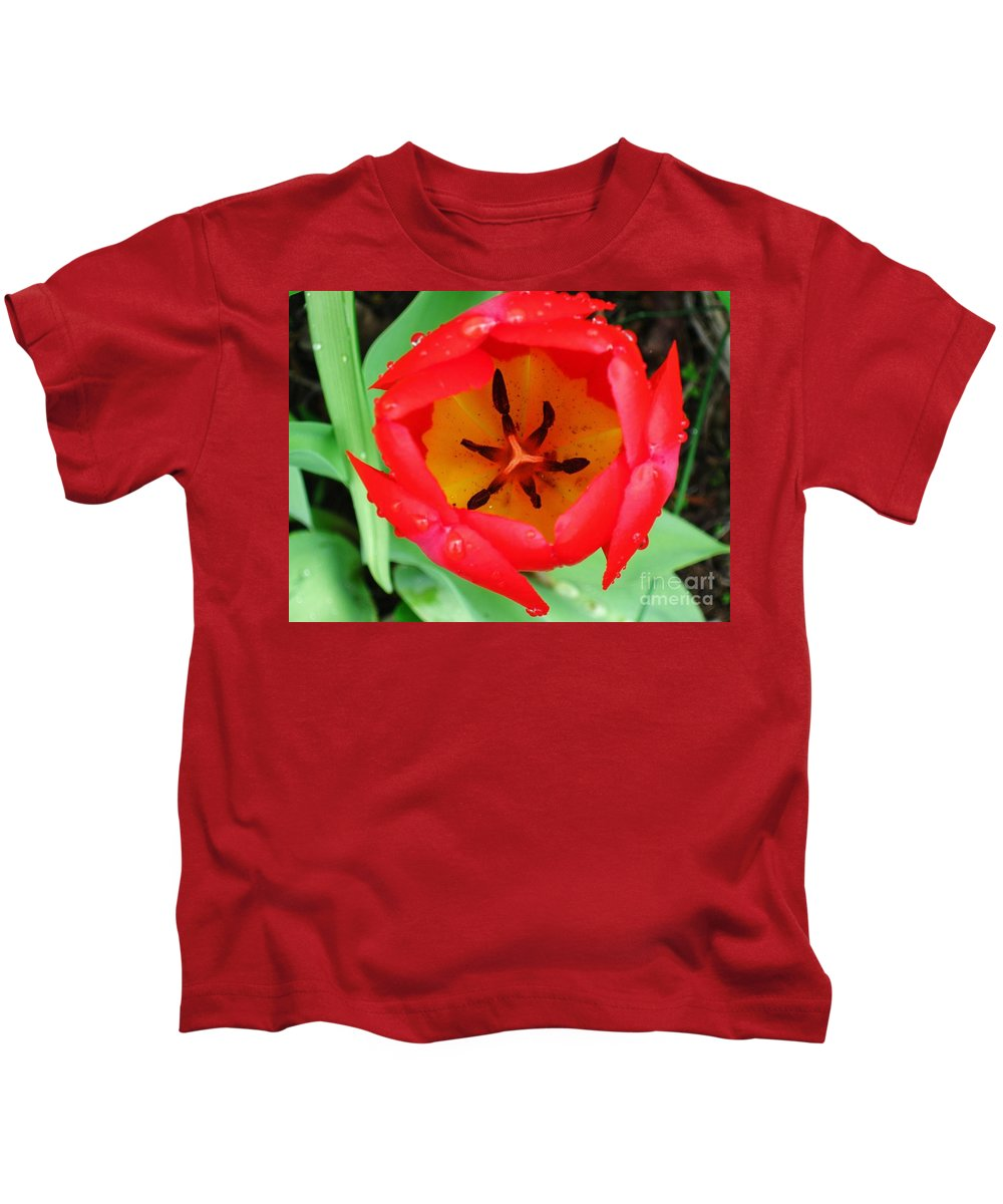 Tulip Kids T-Shirt featuring the photograph Tulip by Janell R Colburn