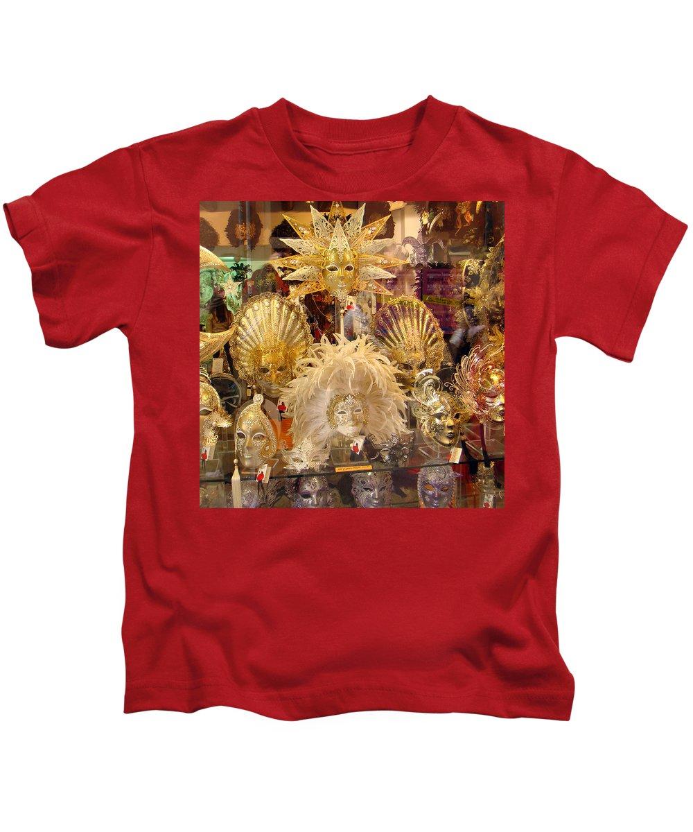 Karen Zuk Rosenblatt Kids T-Shirt featuring the photograph Venetian Masks 2 by Karen Zuk Rosenblatt