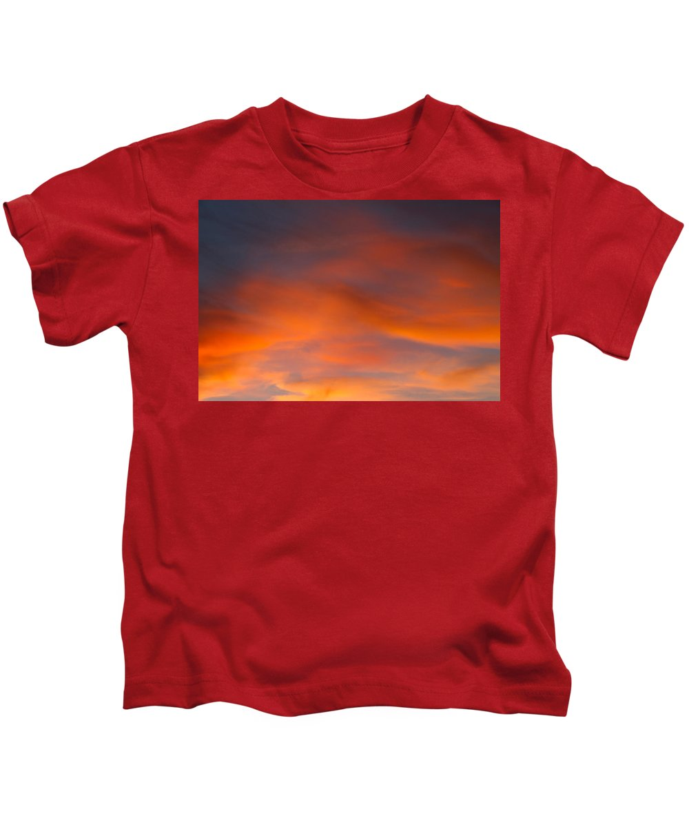 Orange Kids T-Shirt featuring the photograph Vibrant Complexity by Teri Schuster