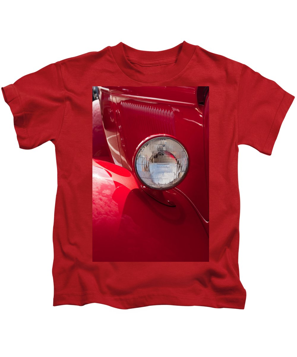 Car Kids T-Shirt featuring the photograph Vintage Car Details 6298 by Brent L Ander