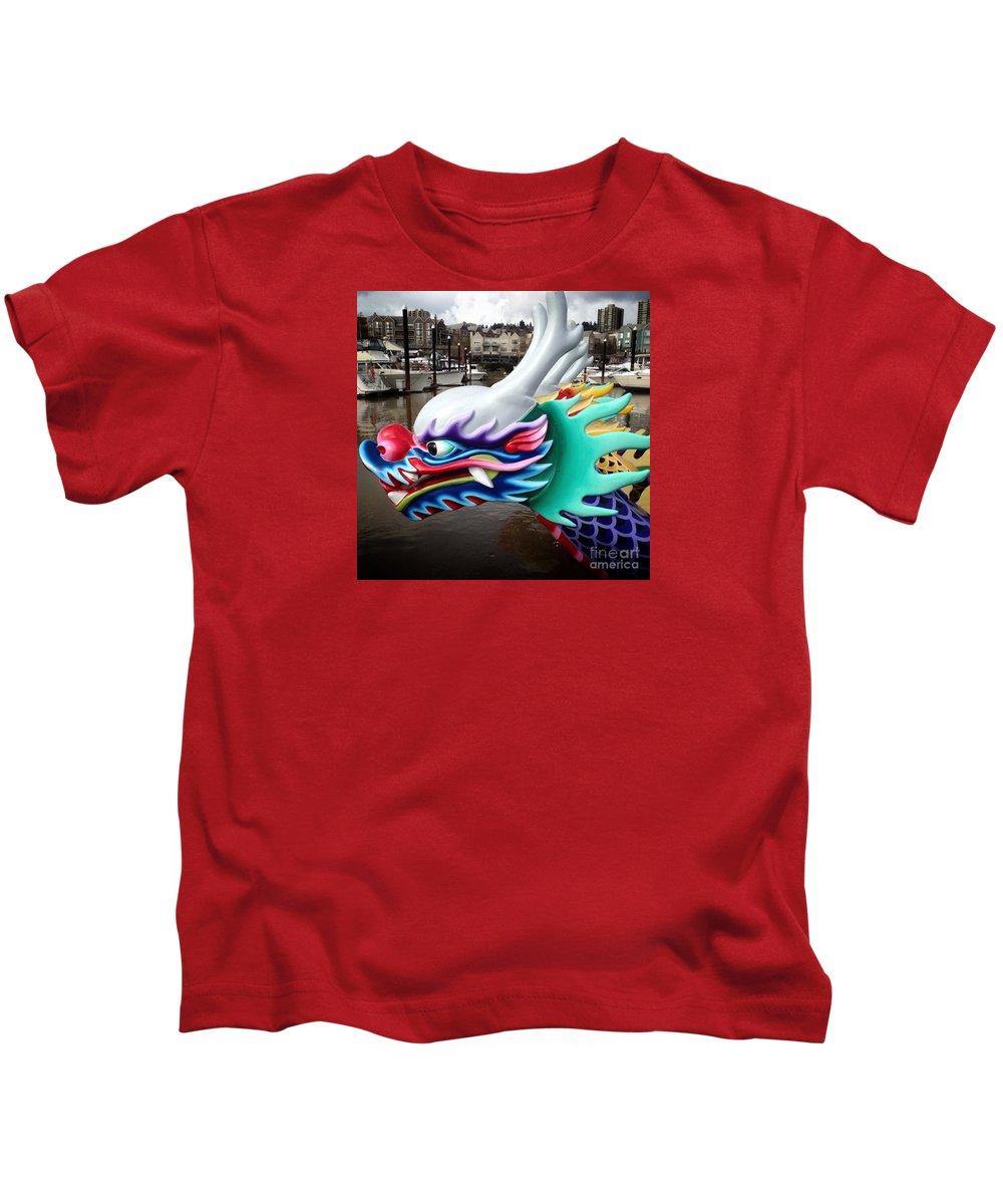Dragon Boat Kids T-Shirt featuring the photograph Waiting Dragon by Susan Garren