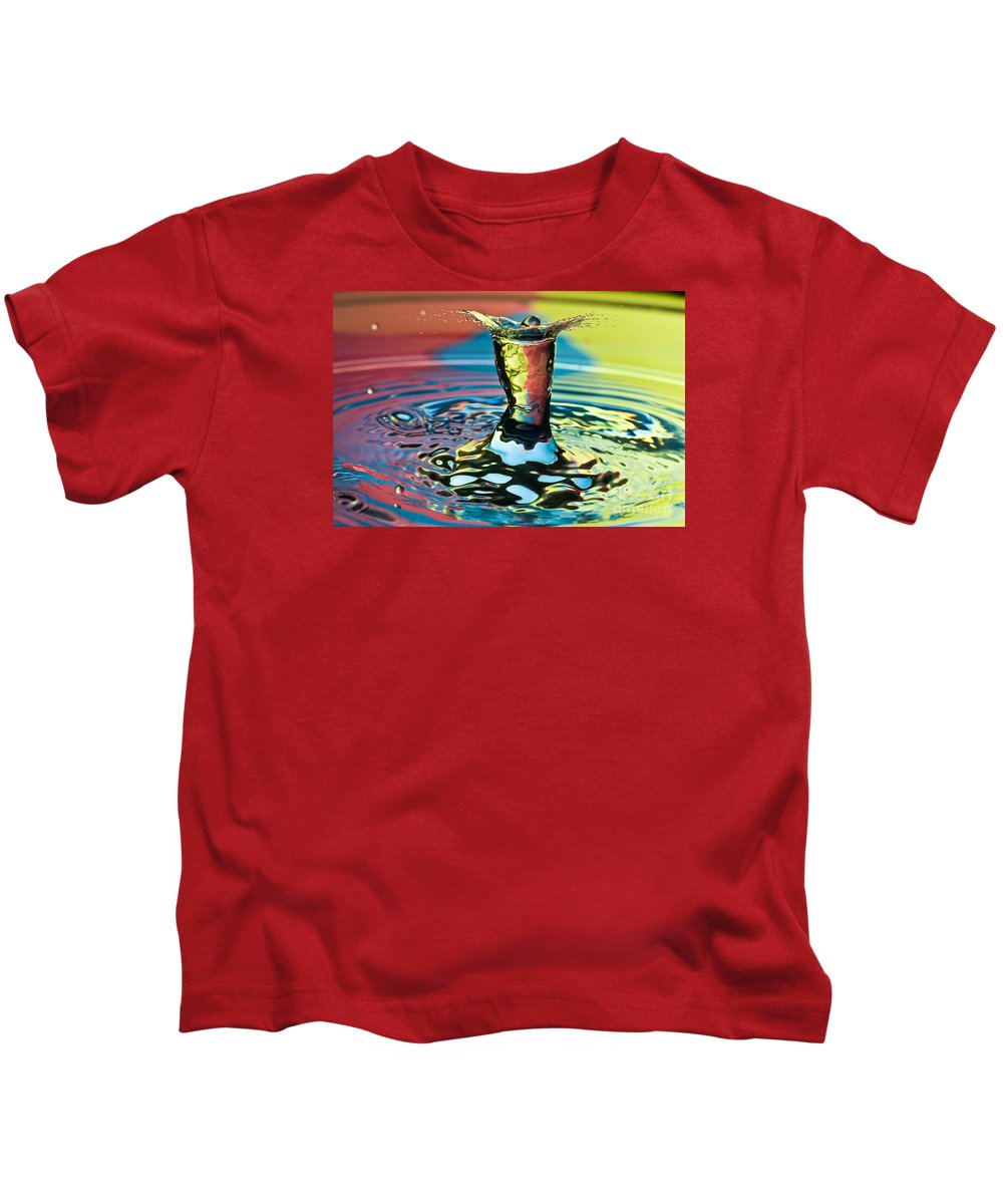 Splash Kids T-Shirt featuring the photograph Water Splash Art by Anthony Sacco