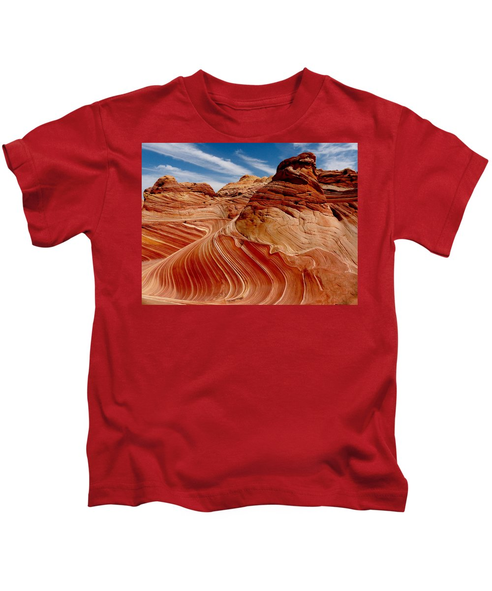 Canyon Kids T-Shirt featuring the photograph Waves Of Time by Alan Socolik