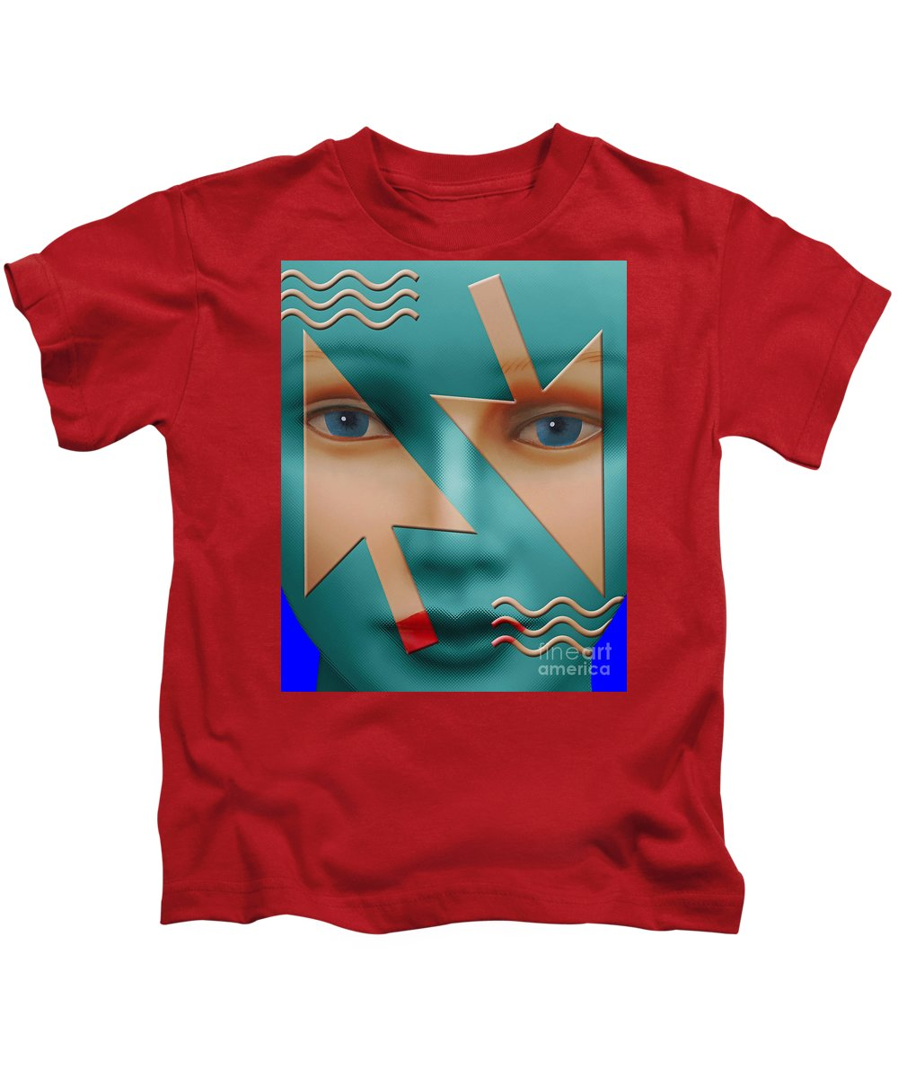 Surreal Kids T-Shirt featuring the digital art Which Direction by Keith Dillon