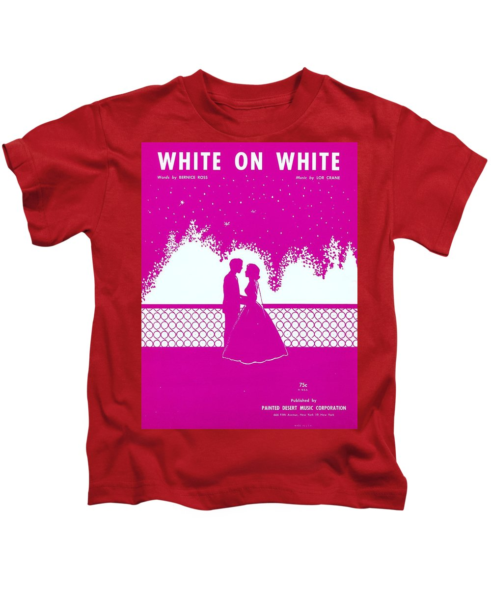 Nostalgia Kids T-Shirt featuring the photograph White On White by Mel Thompson
