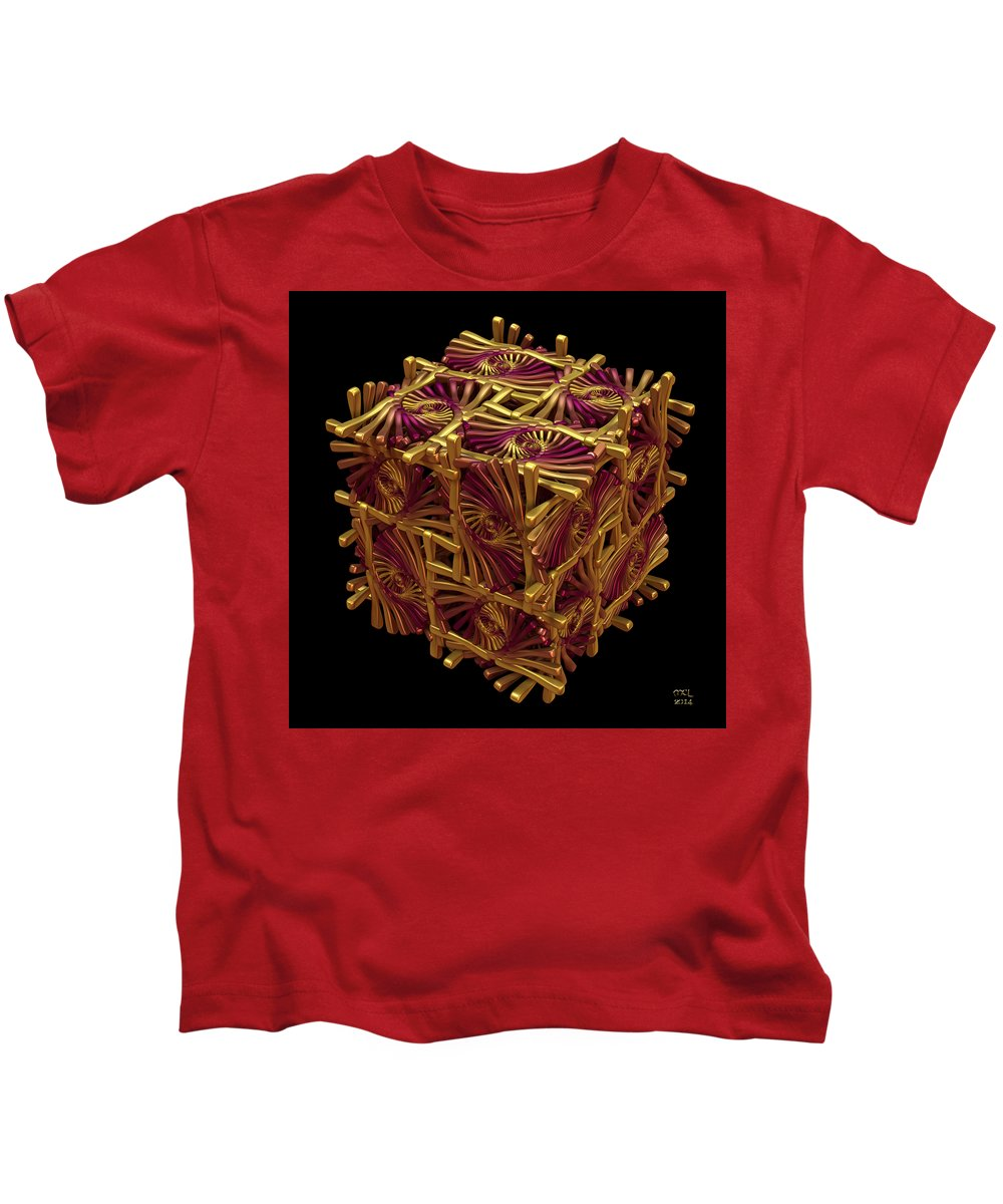 Abstract Kids T-Shirt featuring the digital art Xd Box by Manny Lorenzo