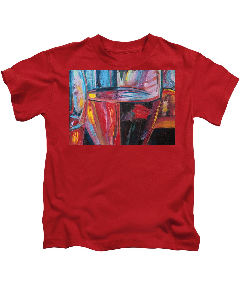 Palette Knife Kids T-Shirt featuring the painting Zest by Trina Teele
