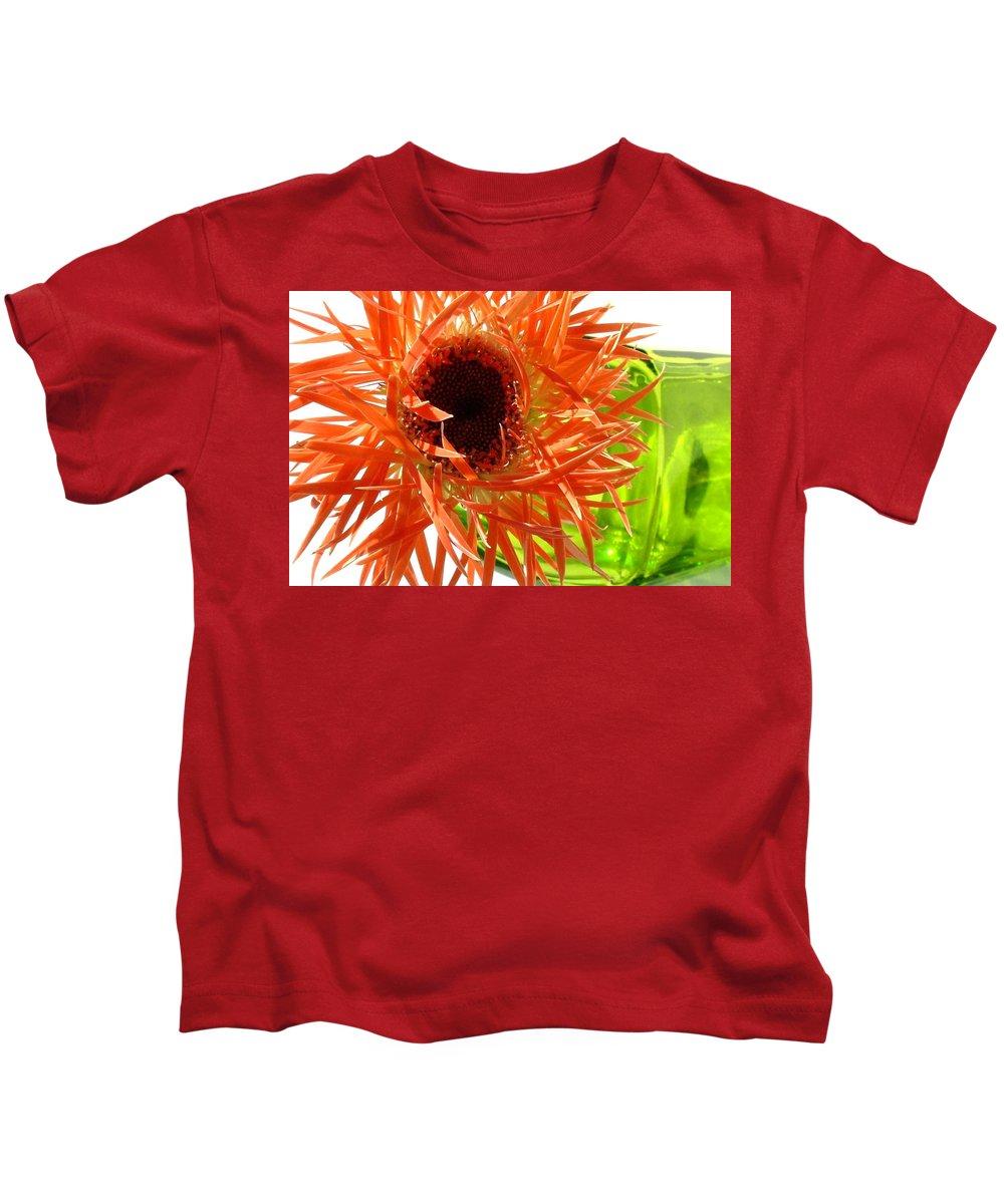 Gerbera Photographs Kids T-Shirt featuring the photograph 0690c-013 by Kimberlie Gerner Wells