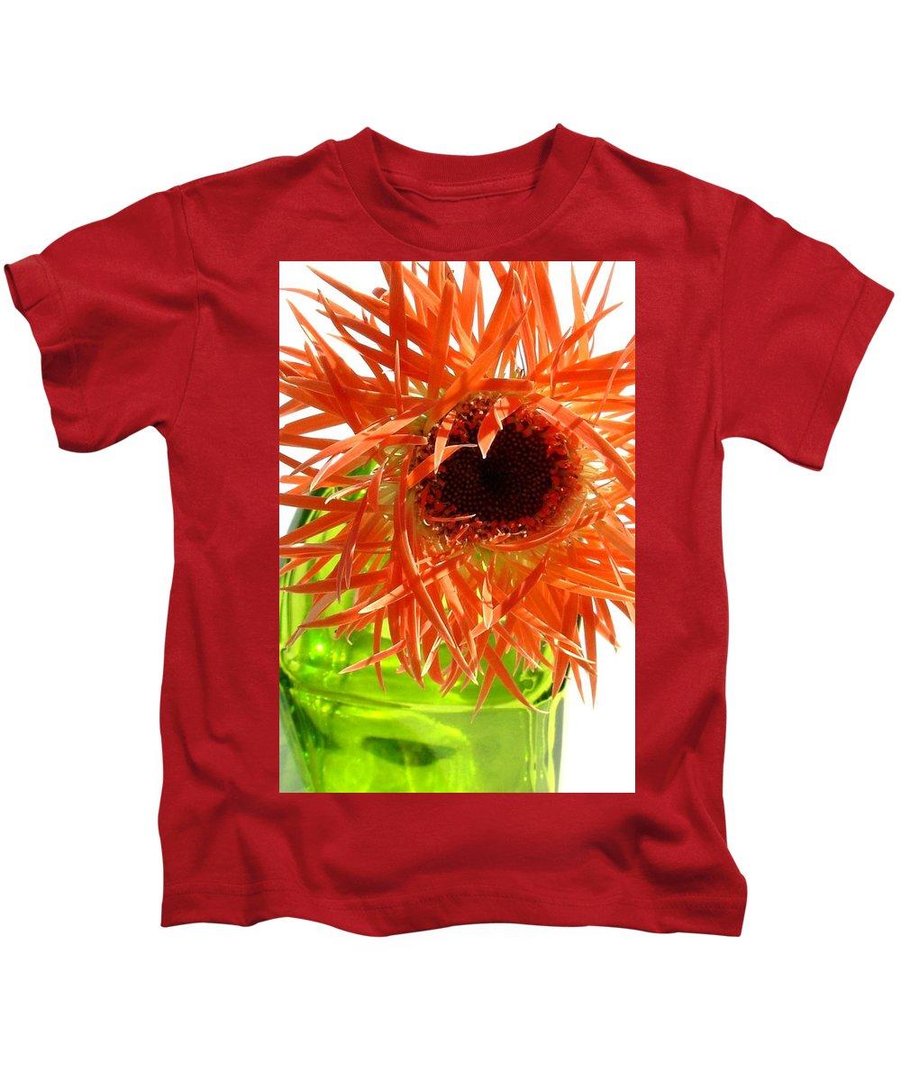 Gerbera Photographs Kids T-Shirt featuring the photograph 0690c-014 by Kimberlie Gerner
