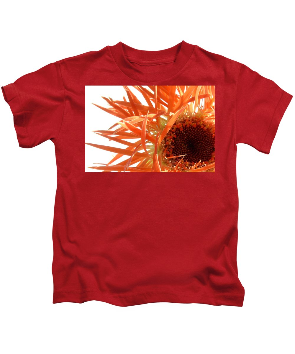 Gerbera Photographs Kids T-Shirt featuring the photograph 0692c-003 by Kimberlie Gerner