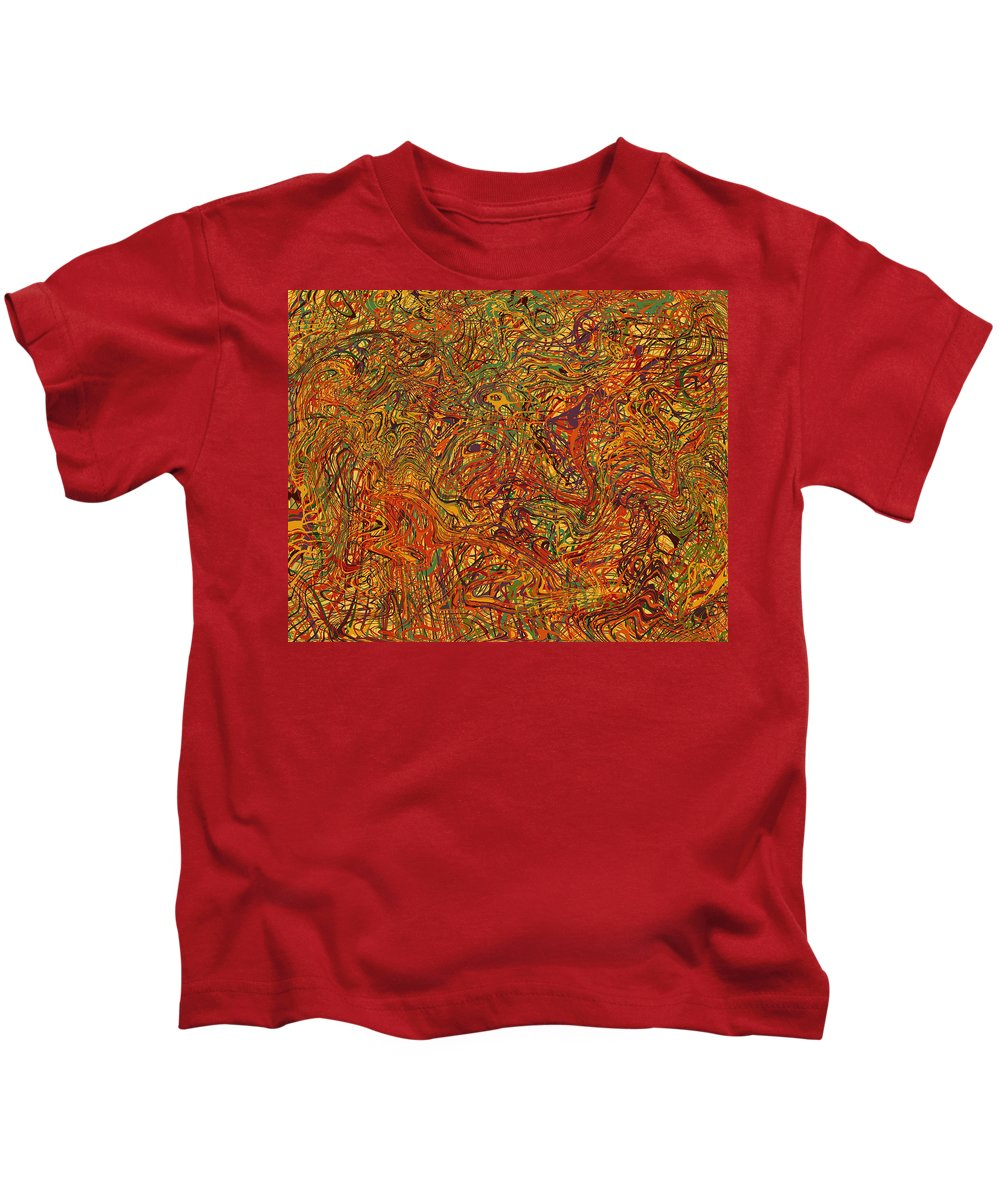 Abstract Kids T-Shirt featuring the digital art 0700 Abstract Thought by Chowdary V Arikatla