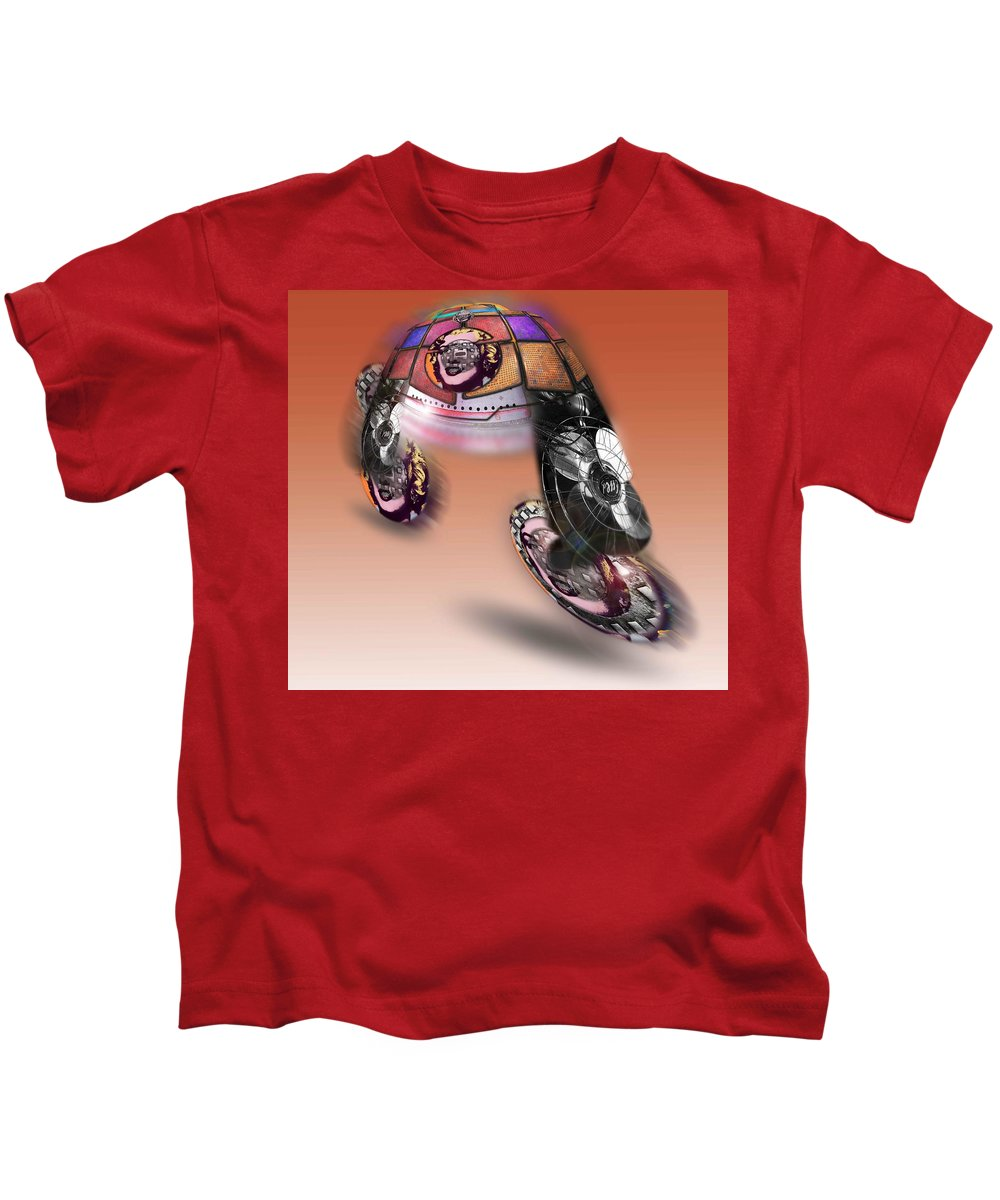 Pop Kids T-Shirt featuring the painting Fan Dance by Charles Stuart