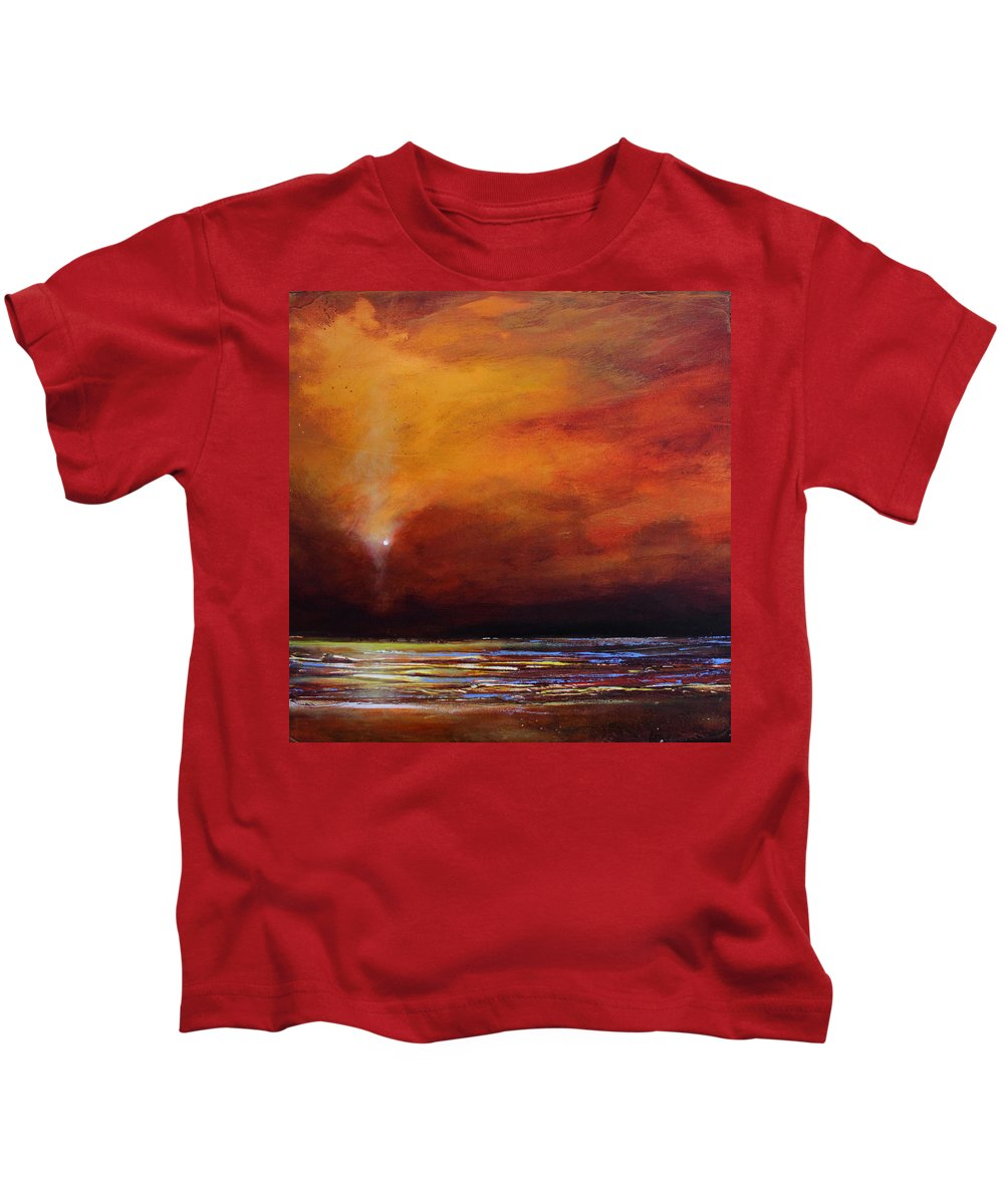 Light Kids T-Shirt featuring the painting Love Light by Toni Grote