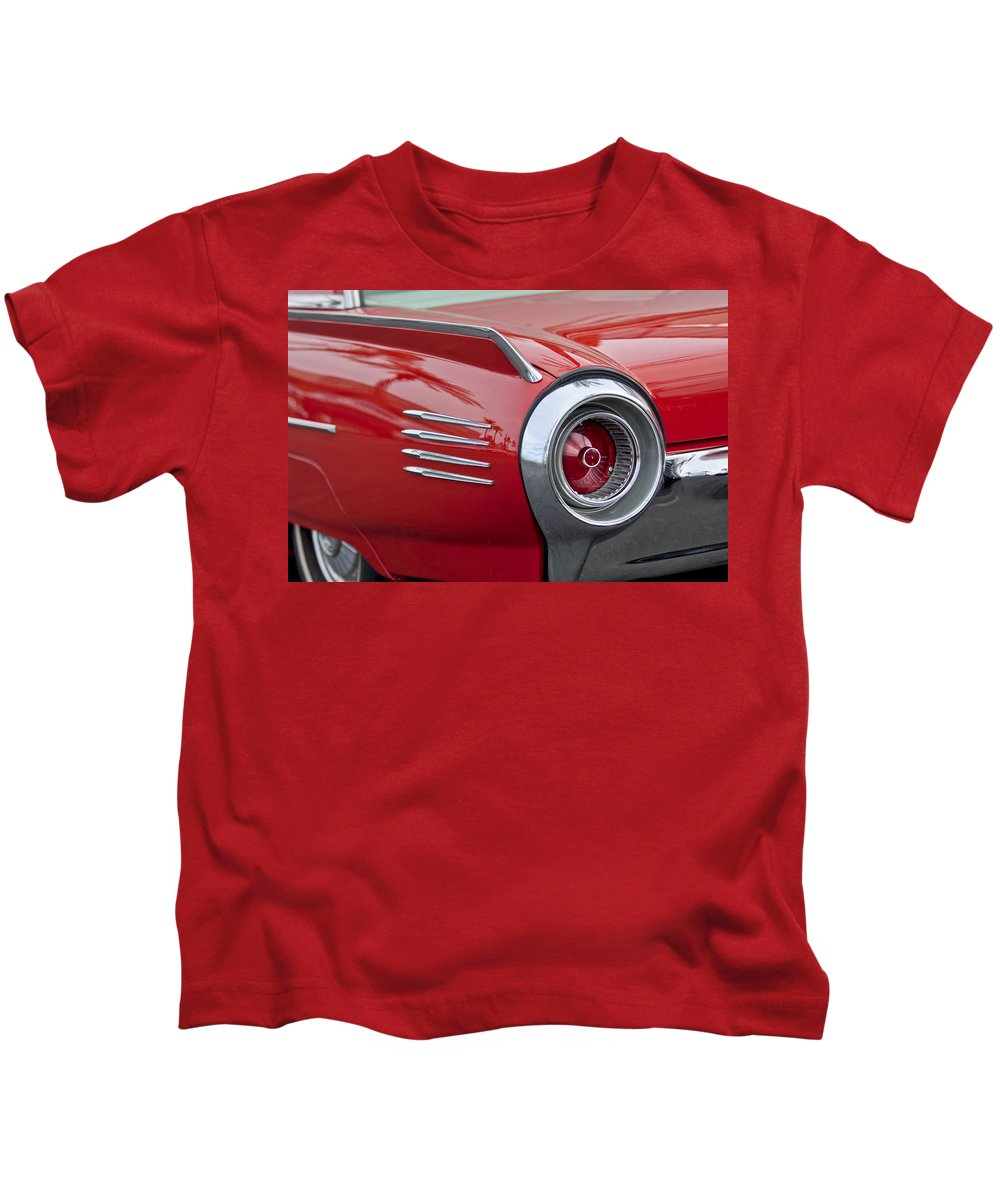 1961 Ford Thunderbird Kids T-Shirt featuring the photograph 1961 Ford Thunderbird Taillight by Jill Reger
