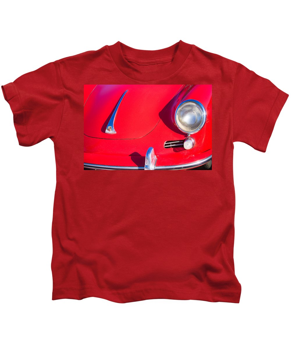 Automobiles Kids T-Shirt featuring the photograph 1963 Red Porsche by James BO Insogna