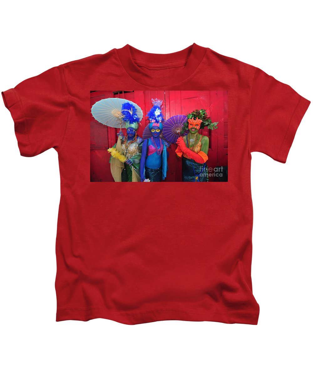 Parades Kids T-Shirt featuring the photograph Mermaid Parade 2011 Coney Island by Mark Gilman