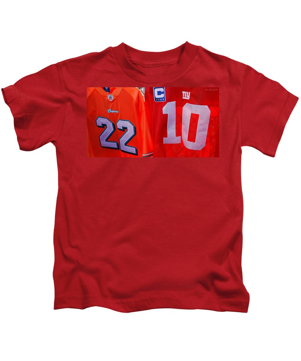 New York Giants Kids T-Shirt featuring the photograph 22 10 by Rob Hans