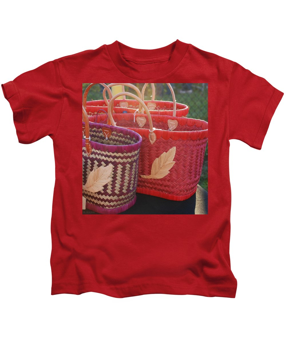 Baskets Kids T-Shirt featuring the photograph 3 Baskets by Rob Hans