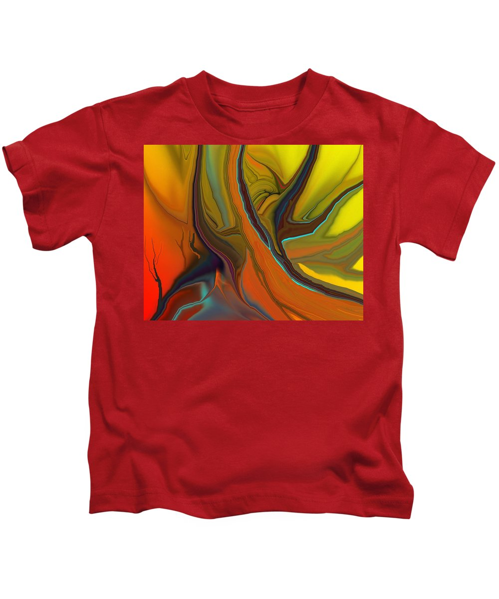 Fine Art Kids T-Shirt featuring the digital art Abstract 110311 by David Lane