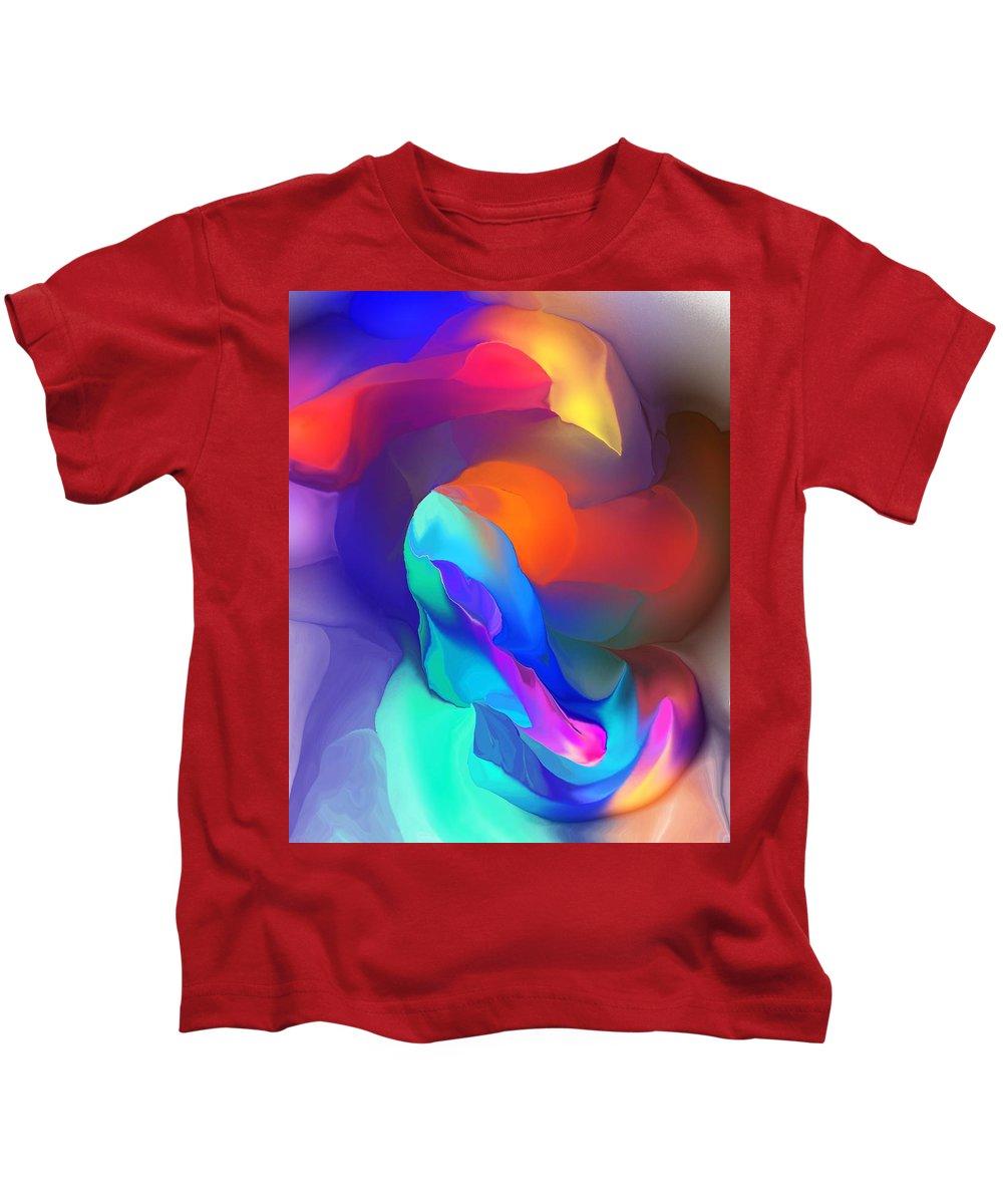 Fine Art Kids T-Shirt featuring the digital art Abstract Still Life Objects De Art by David Lane