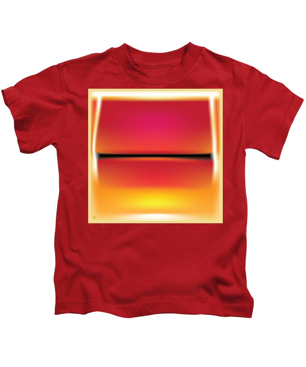 Modern Art Kids T-Shirt featuring the painting After Rothko by Gary Grayson