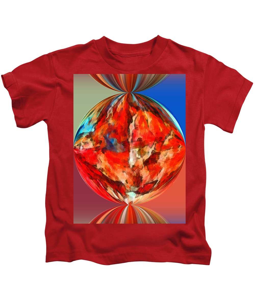 Perception Kids T-Shirt featuring the mixed media Alternate Realities 3 by Angelina Tamez