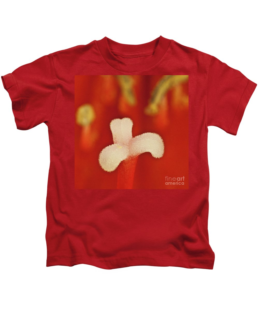 Amaryllis Kids T-Shirt featuring the photograph Amaryllis by Heiko Koehrer-Wagner