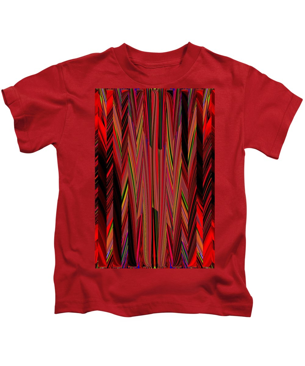 Abstract Kids T-Shirt featuring the digital art Any Way You Slice It 3 by Tim Allen