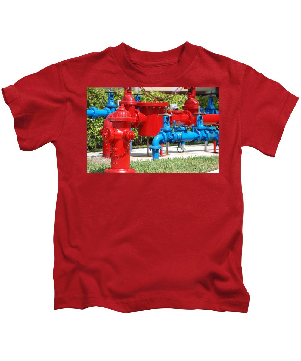 Mechanical Kids T-Shirt featuring the photograph Bright Colored Machanics by Rob Hans