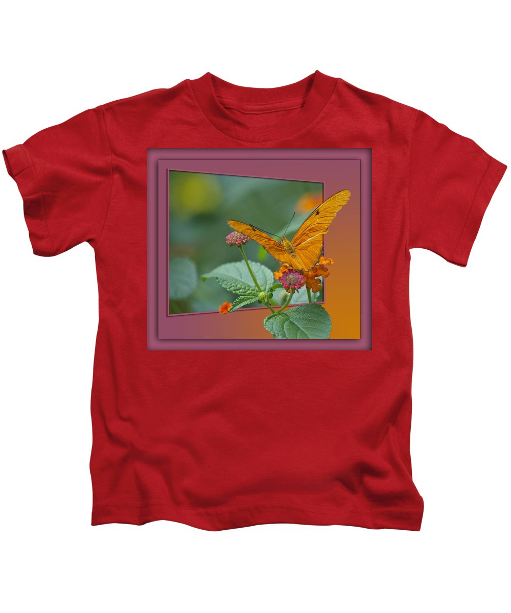 Test Kids T-Shirt featuring the photograph Butterfly Orange 16 By 20 by Thomas Woolworth