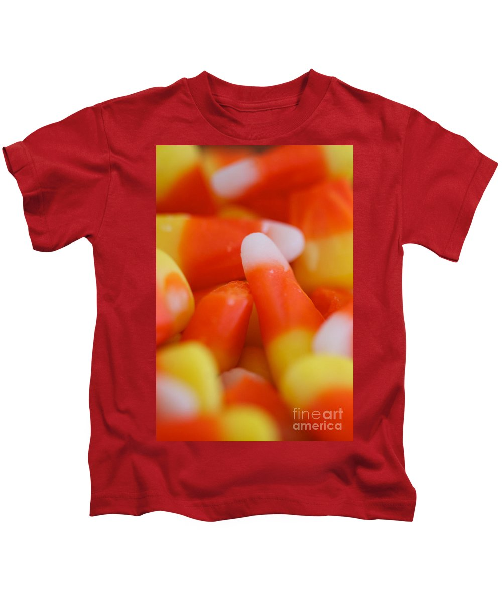 Candy Corn Kids T-Shirt featuring the photograph Candy Corn One by Brooke Roby